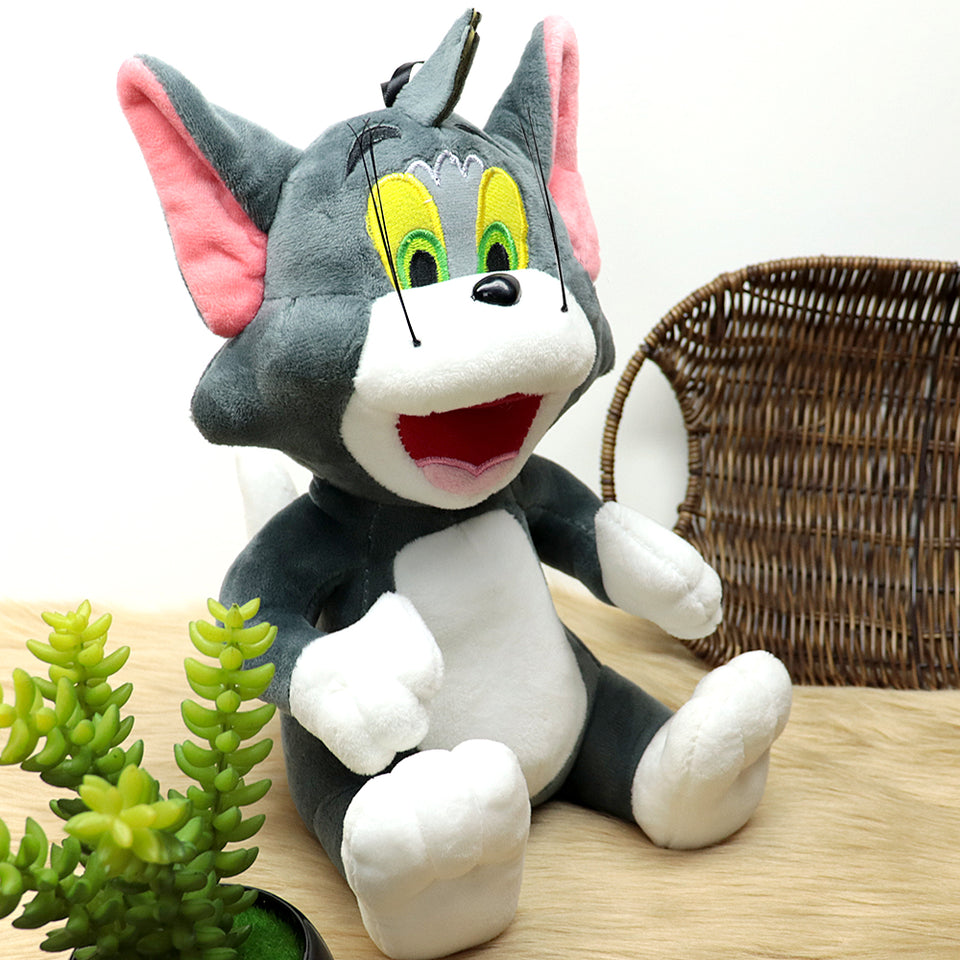 Plush Supreme Quality Tom Soft Stuffed Toy Grey 10 inches Height (TM-20198)