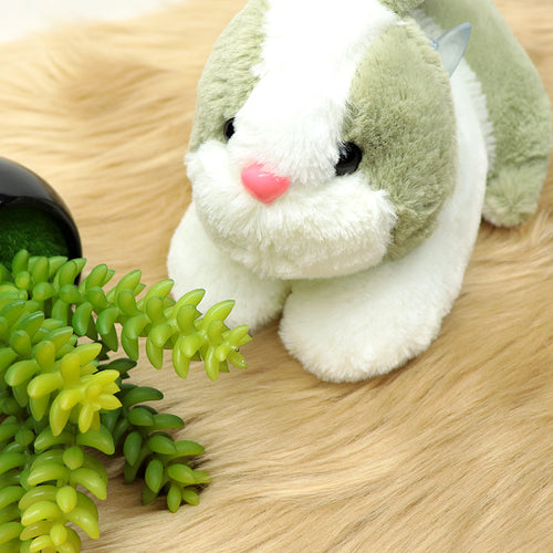 Plush Supreme Quality Rabbit Soft Stuffed Toy Green 8 inches Width (RB-20199)