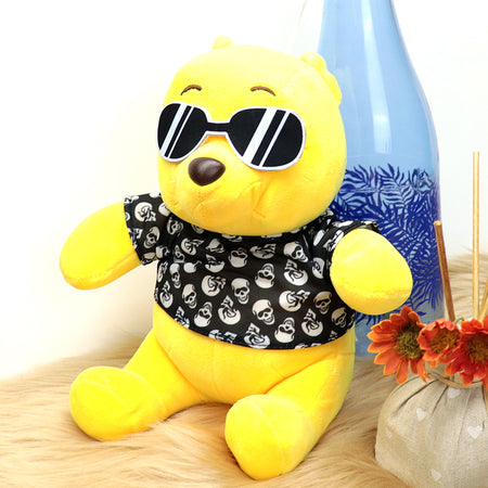 Plush Supreme Quality Cool Pooh Soft Stuffed Toy 10 inches  (TO-20204)