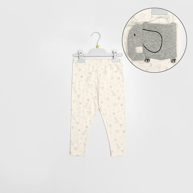 B-Club Allover Printed Trousers with Elephant Back pocket (BC-1336)