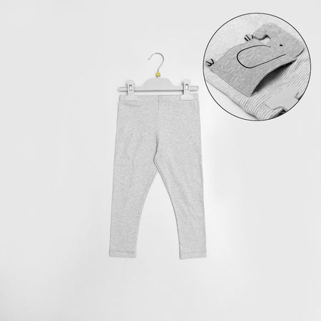 B-Club Grey Birdeye Striped  Trousers with Elephant Back pocket (BC-1342)