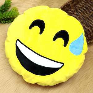Quality Microfiber stuffed Soft Plush Emoji Cushions (EM-20192)