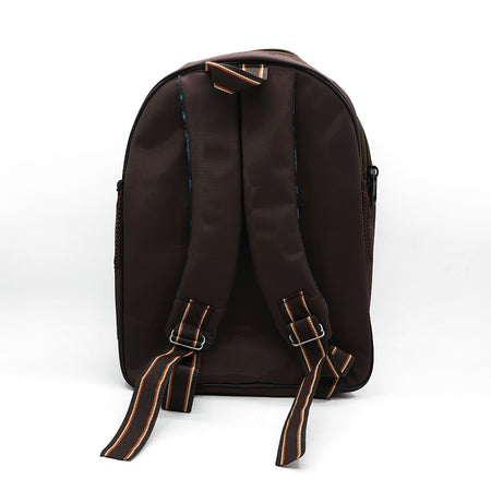 KIDS DK. BROWN POLO SCHOOL BAG  (BA-2940)