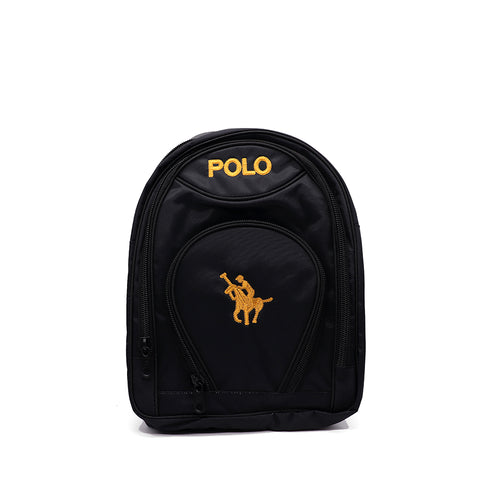 KIDS BLACK POLO SCHOOL BAG  (BA-2939)