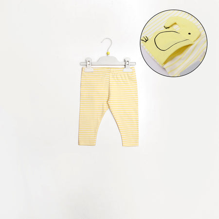 B-Club Yellow Birdeye Striped Trousers with Elephant Back pocket (BA-1338)