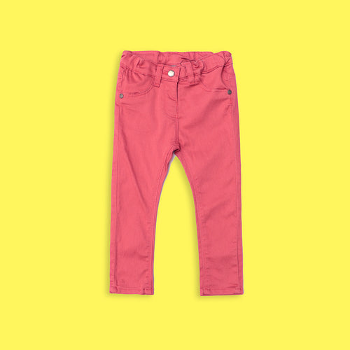 Kids Pink Chinos with Stretch & Adjustable Waistband  (JB-5503)