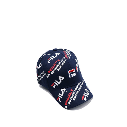 FI-LA 3D EMBROIDERY & ALLOVER PRINT BASEBALL CAP