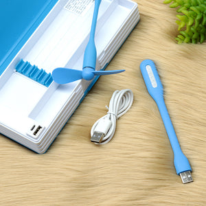 Trendy Doremon Led Cum Fan Rechargeable Pencil Box with USB (GE-20218)