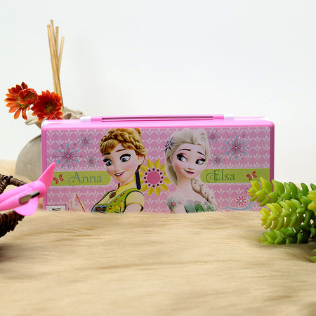 Trendy Frozen Led Cum Fan Rechargeable Pencil Box with USB (GE-20217)