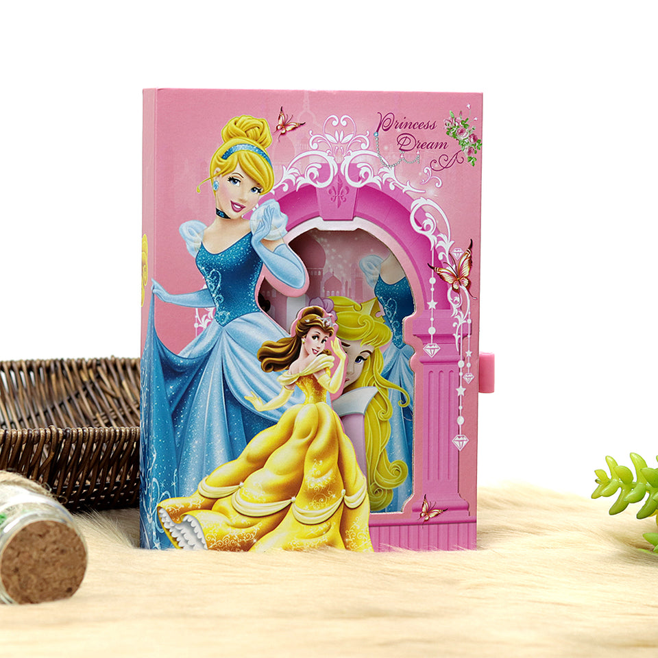 BARBIE DESIGN BIG SIZE PERSONAL LOCK DIARY FOR KIDS (NB-5386)