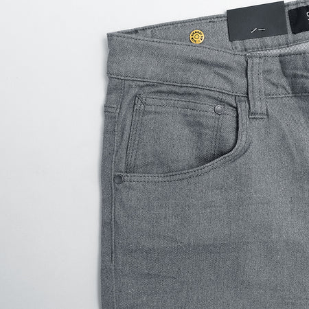 Slim Fit Stretch Mid Grey Jeans (SM-388)