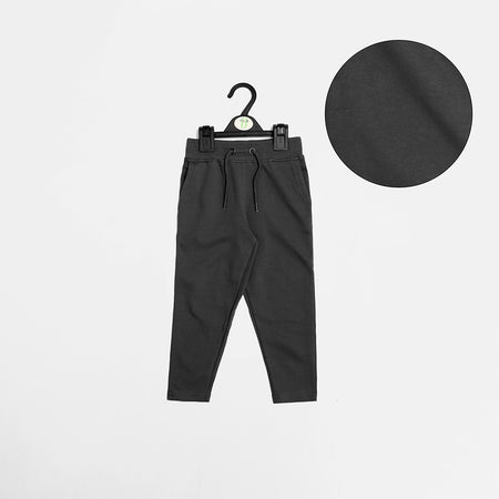 Kids Dk.Grey Ribbed Waistband Slim fit Trousers (MI-1432)