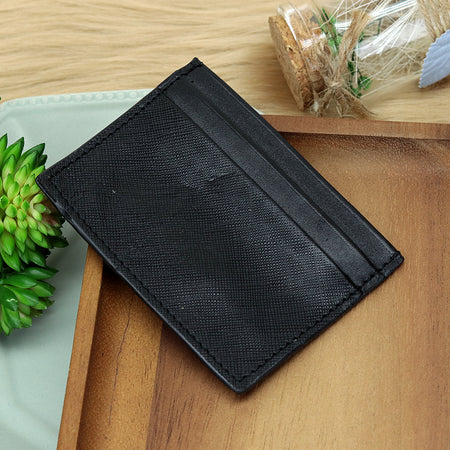 Dear Stag Genuine Textured Leather Black Card Holder (DS-4792)