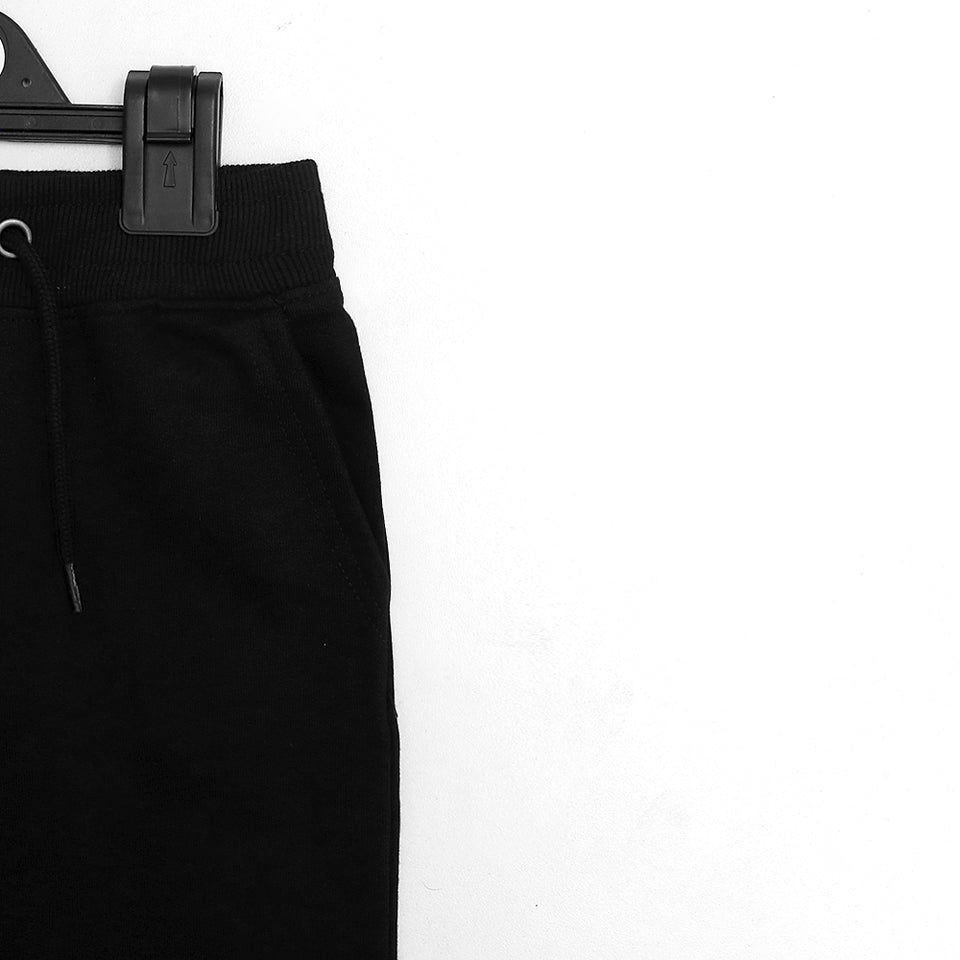 Kids Black Ribbed Waistband Slim fit Trousers (MI-1433)
