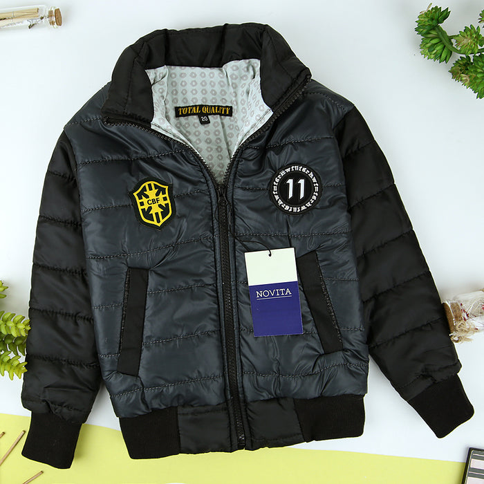 Kids Storm wear embellished Padded Zipper Jacket