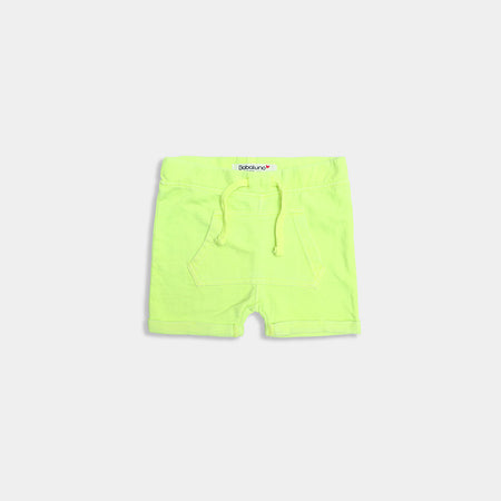 Babies Florescent Kangaroo Pocket terry Shorts  (BA-471)