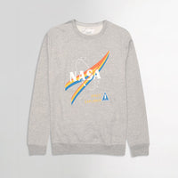Heavy Fleece Crew Neck NASA Graphic Print Sweatshirt (BR-10405)