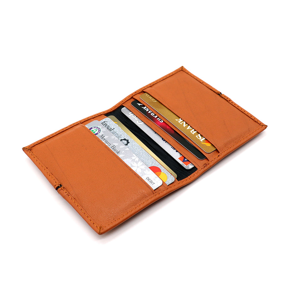 Genuine Full Grain Leather Pale Brown Card Holder (CW-414)