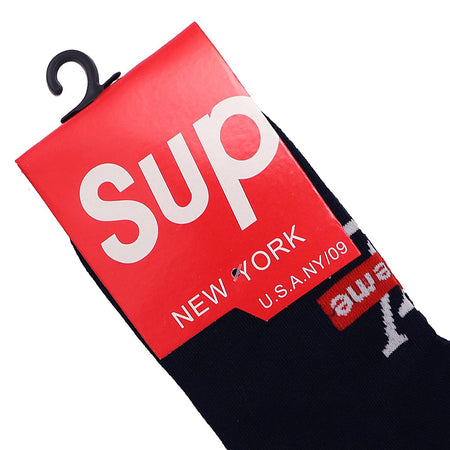 Black Signature Cotton Stretch Ankle Socks (SU-1502)