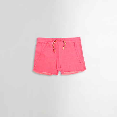 Kids Frayed Hem Fluorescent Dyed Shorts (MI-1482)