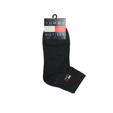 Black Signature Cotton Ankle Socks (TO-1485)