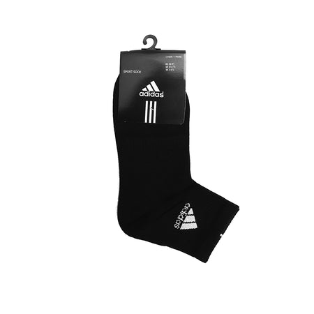 Black Signature Cotton High Ankle Socks (AD-1509)