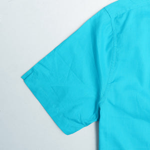 Cyan Pure Cotton Short Sleeve Casual Shirt  (TF-1516)