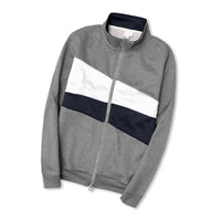 Men Exclusive Mock Neck Color Block Zip-up Jacket (CE-10436)