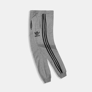 Ad Dk Grey Tri Striped Close bottom Fleece Jogger (AD-10019)