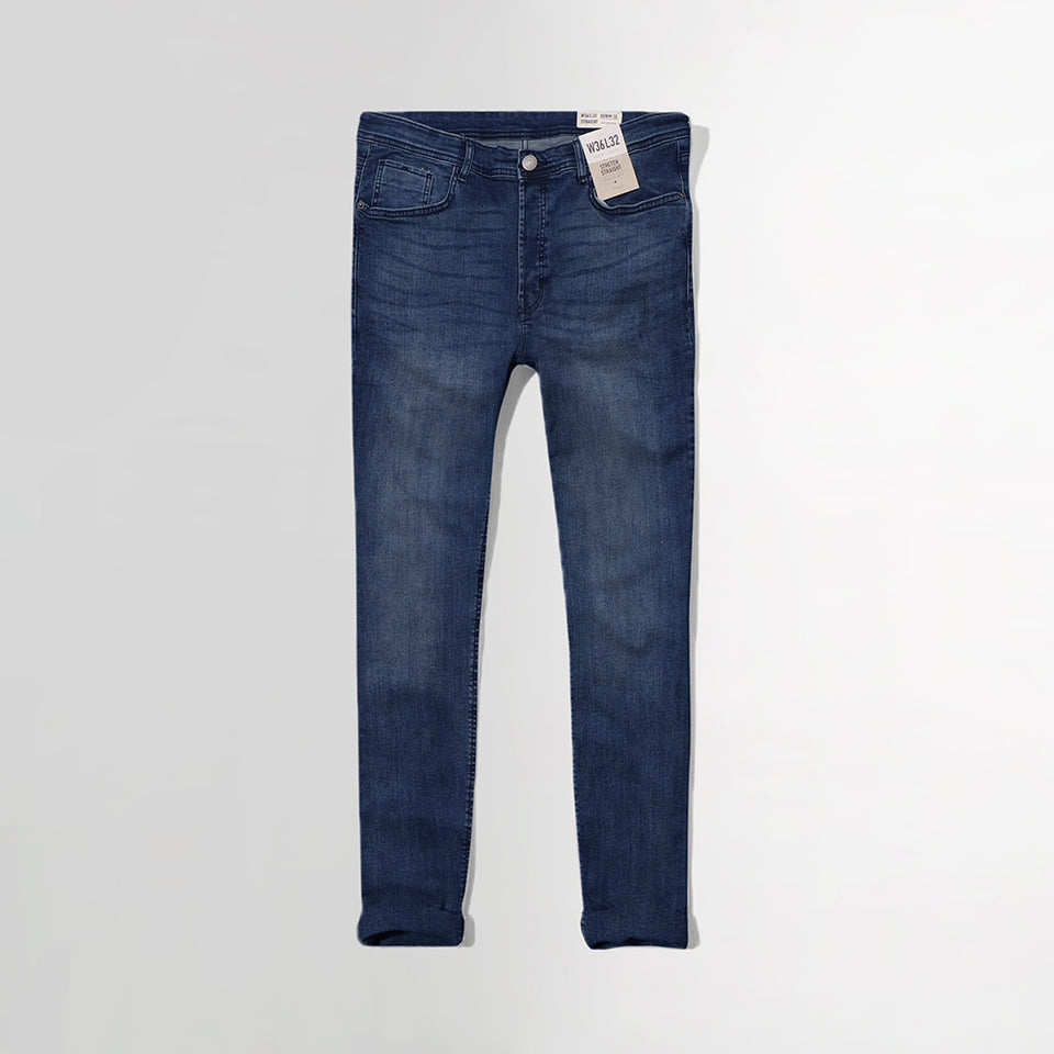Denim Co Dark wash Slim Straight  Fit Stretch Jeans  (DE-2927)