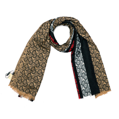 All over Jacquard weave Monogram Stole  (BU-2397)