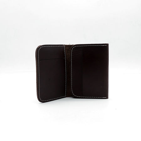 Genuine Double ply Pull Up  Leather Brown mini Wallet   (DS-2977)