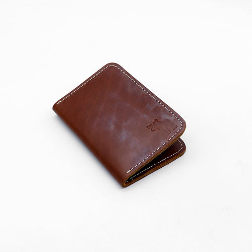Genuine Pull Up Leather Tan mini Wallet   (DS-2953)
