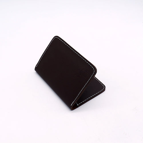 Genuine Pull Up Leather Brown mini Wallet   (DS-2928)