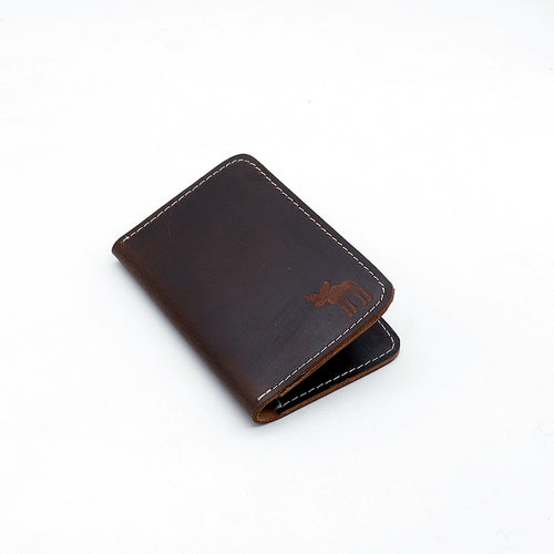 Genuine Pull Up Leather Dk Brown mini Wallet  (DS-2954)