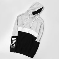 Men Color Block Over Head Fleece Hoodie (LI-10442)