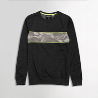 Idntic Camo Panel Charcoal Sweatshirt (ID-1586)
