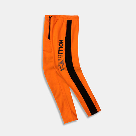 SIGNATURE PRINTED RACER STRIPED OPEN BOTTOM JOGGERS (HO-10037)