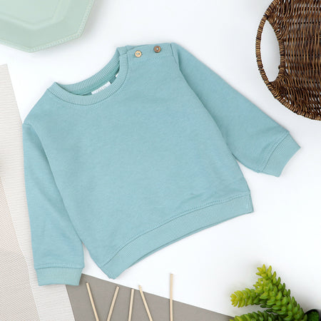 Kids Sky blue Fleece Sweatshirt (ZA-10385)