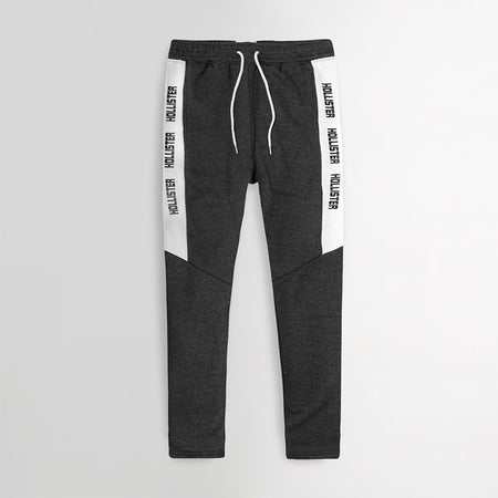 Signature Print Racer Striped Open bottom Joggers (HO-10036)