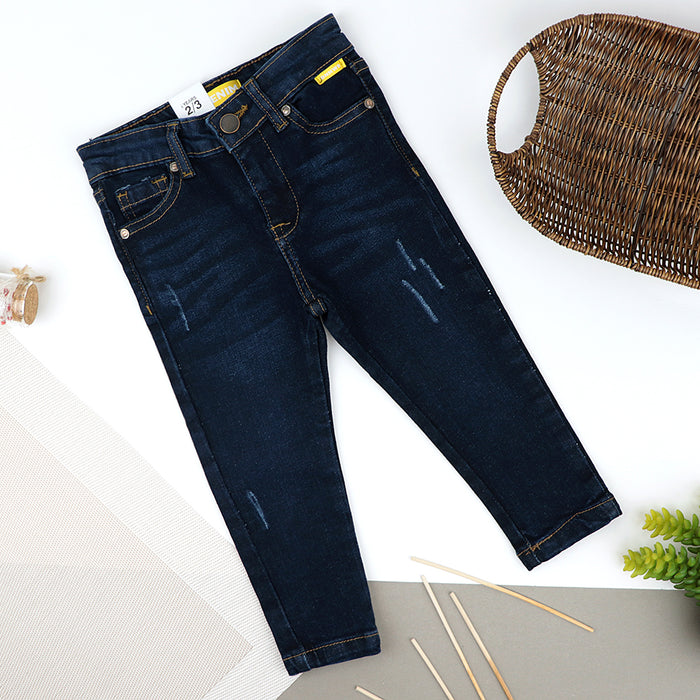 Boys Skinny Leg Midnight Wash Stretch & Distressed Denim Jeans  (ZA-10442)