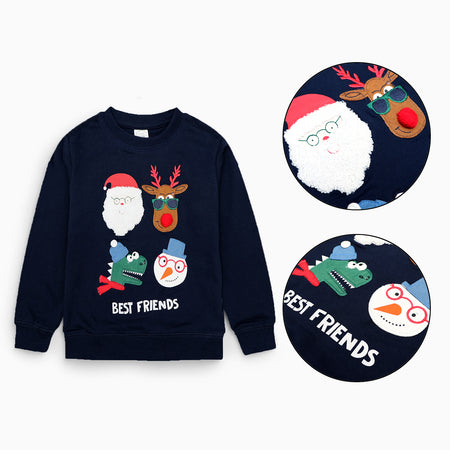 C-Club Kids Christmas Vibes Graphic Sweatshirt  (CL-1596)