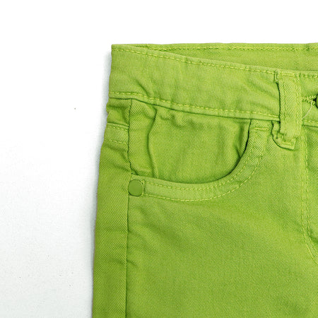 Girls Slim Leg Chino Stretch Capri Pants  (IO-2987)