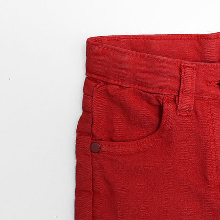 Girls Slim Leg Chino Stretch Capri Pants  (IC-2989)