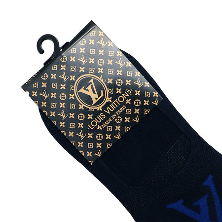 Navy Signature Cotton No Show Socks (LV-694)