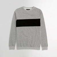 ZR Men Black Color Block Sweatshirt (ZA-1646)