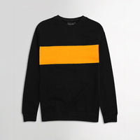 ZR Men Black Color Block Sweatshirt (ZA-1647)