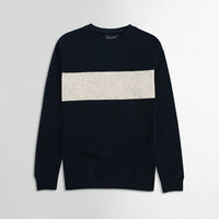 ZR Men Navy Color Block Sweatshirt (ZA-1645)