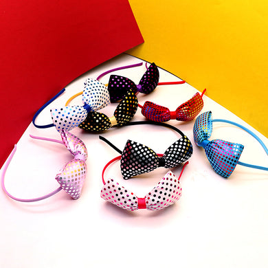 Decent Foil Dots Printed Bow Hairband for Girls