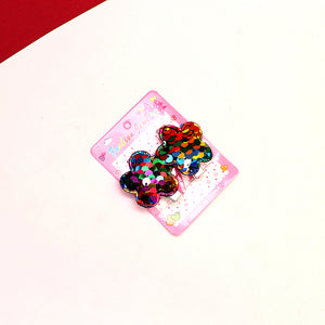 Pack of 2 Girls Sequin Flower shaped  Hair Clip